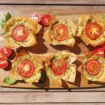 Tomato and Spinach Mini Quiches