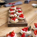 Charred Red Pepper Canapes